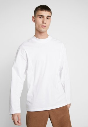 JORCARTY TEE CREW NECK BOX FIT - Long sleeved top - white new shape