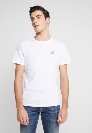 JJEDENIM LOGO TEE O-NECK - T-shirt basic - white/black