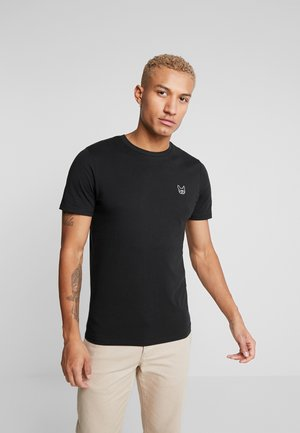 JJEDENIM LOGO TEE O-NECK - T-paita - black/white