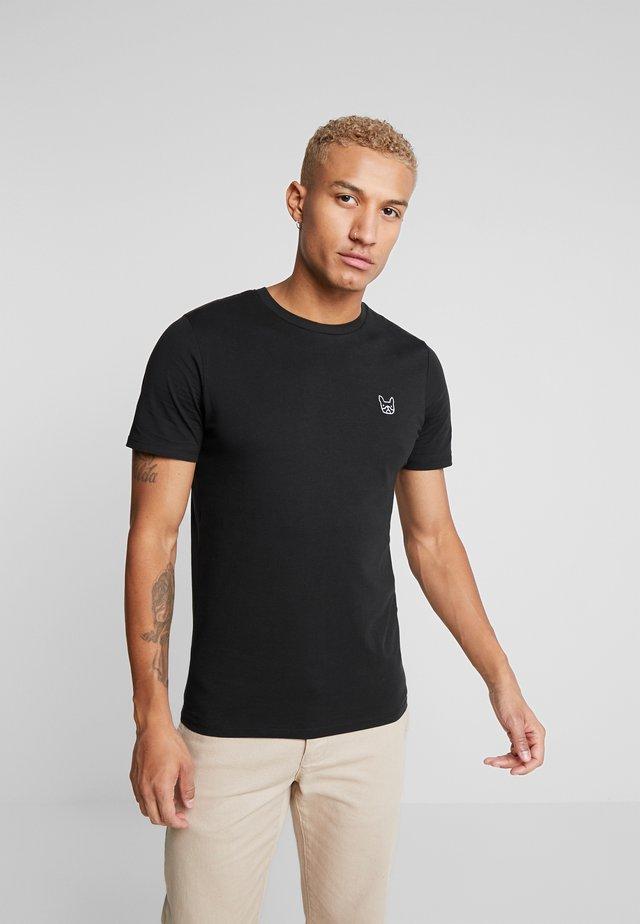JJEDENIM LOGO TEE O-NECK - T-shirt basic - black/white