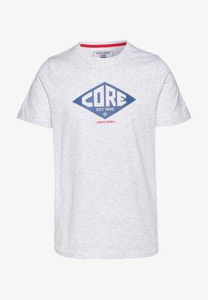 JCOBOUNCE TEE CREW NECK - T-shirt med print - white melange