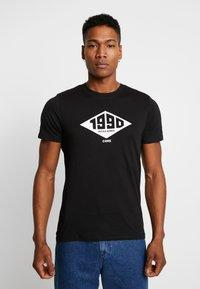 Jack & Jones - JCOBOUNCE TEE CREW NECK - T-shirt print - black - 0