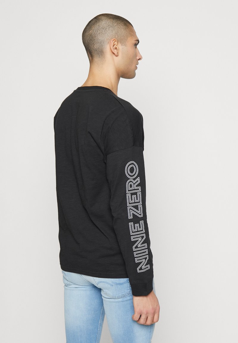 Jack & Jones - JCODOBBY TEE CREW NECK - Longsleeve - black