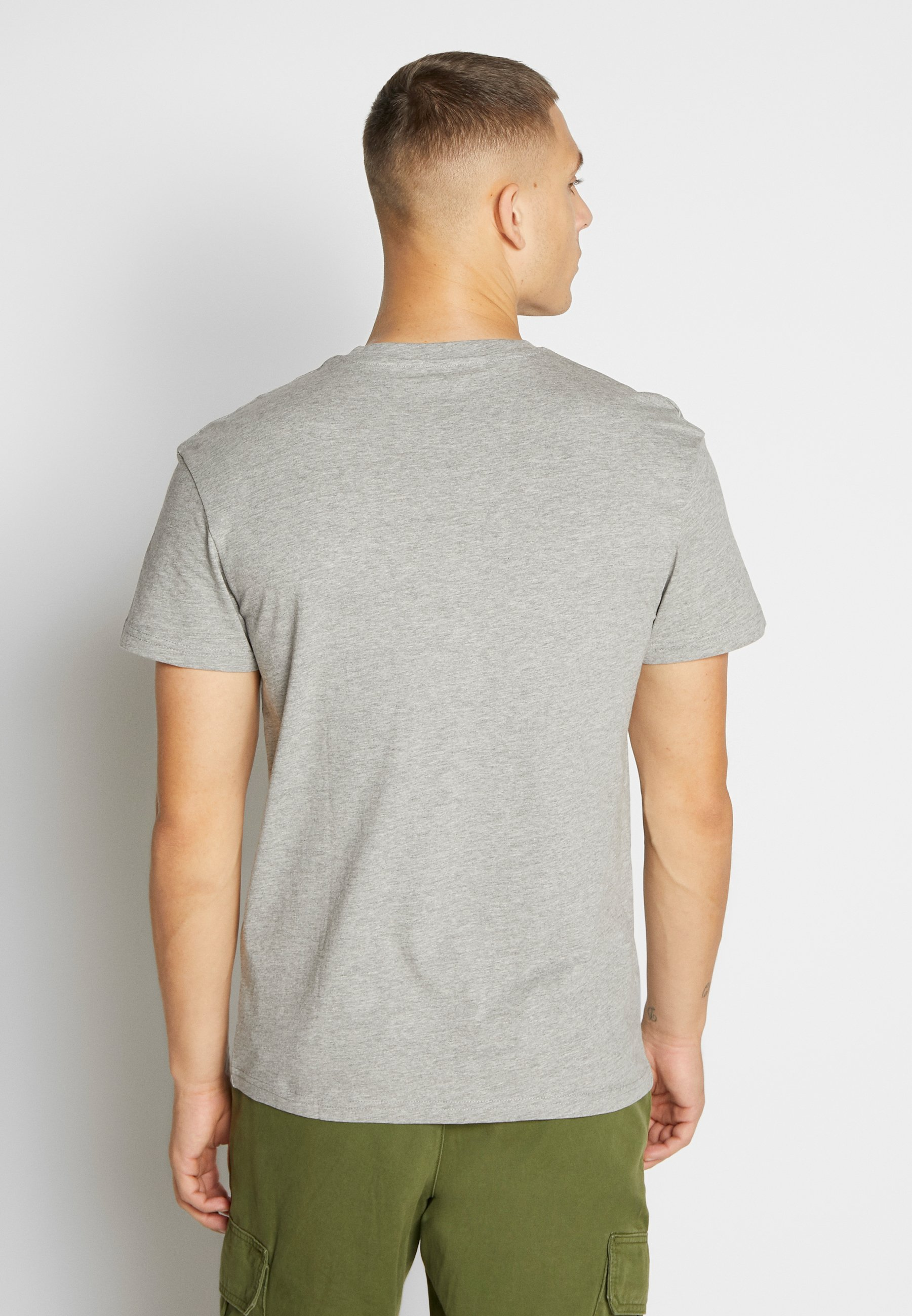 Jack & Jones JORSUPEREN TEE CREW NECK - T-shirt z nadrukiem - light grey melange/relaxed