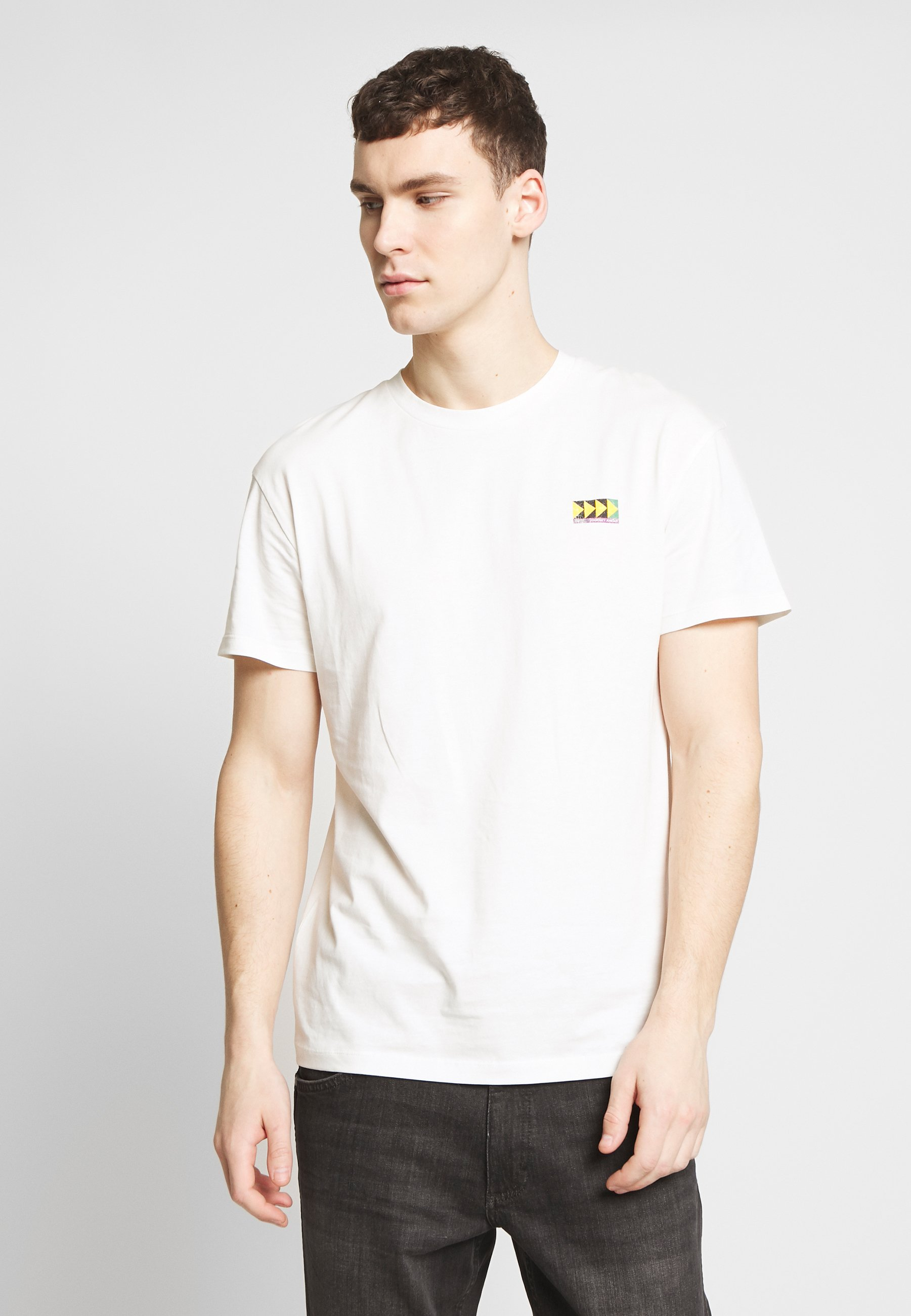 Jack & Jones JORMIRRAGE TEE CREW NECK - T-shirt z nadrukiem - white