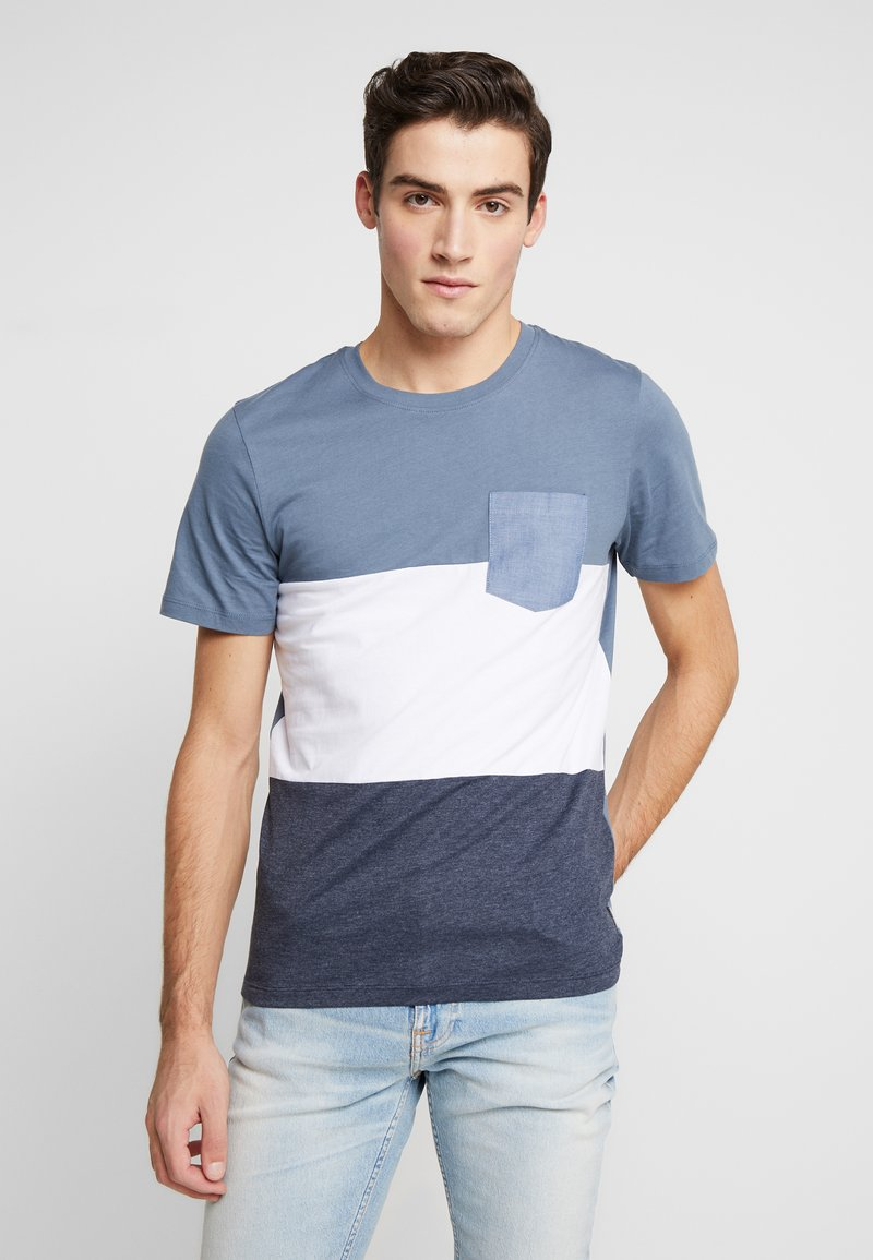 Jack & Jones - JCOEAGLE TEE CREW NECK SLIM FIT - Printtipaita - china blue