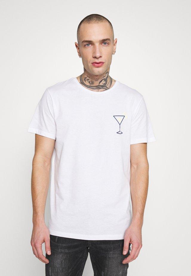 JORENSO TEE CREW NECK - T-shirt con stampa - white