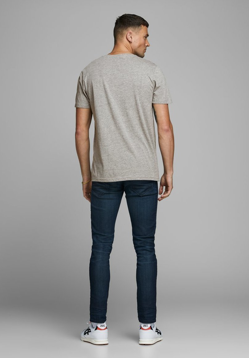 Jack & Jones BRUSTLOGO - T-shirt z nadrukiem - light grey melange
