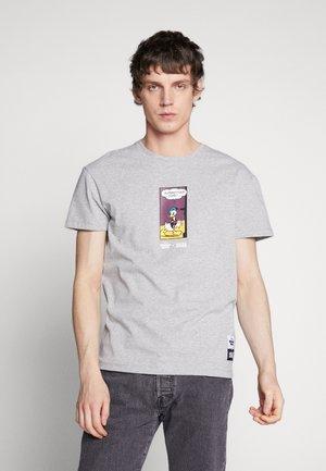 JORDONALDDUCK - T-shirt med print - light grey melange
