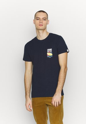 JORSOUVENIR TEE CREW NECK - Basic T-shirt - navy blazer