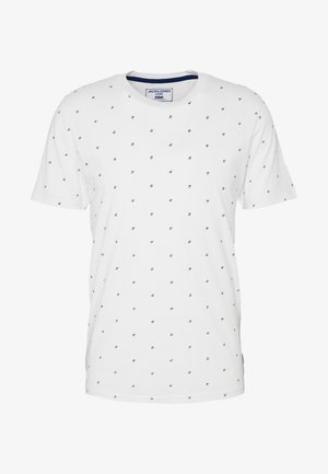JCOCARL TEE CREW NECK - T-shirt print - white