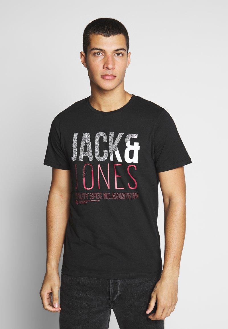 Jack & Jones - T-shirt z nadrukiem - black