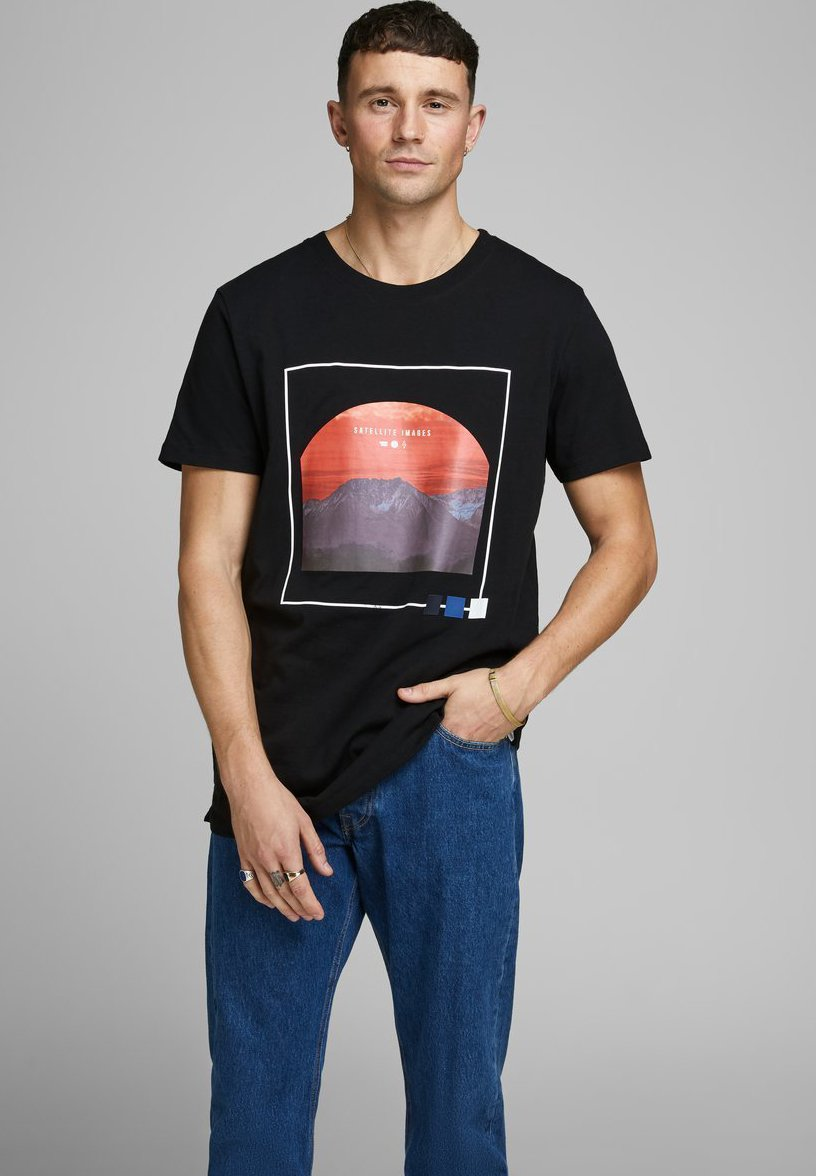 Jack & Jones T-shirt z nadrukiem - black
