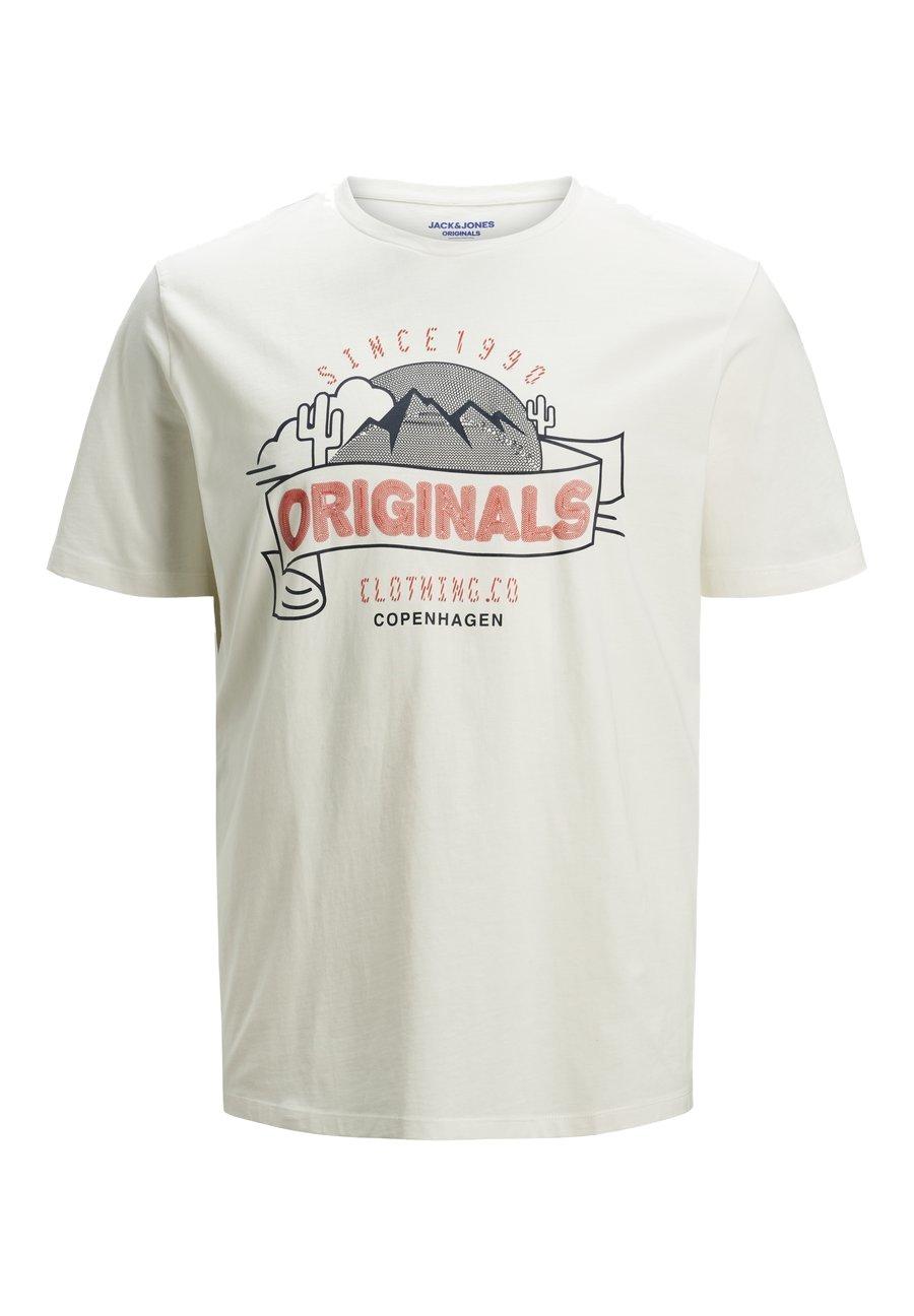 Jack & Jones T-shirt z nadrukiem - off-white