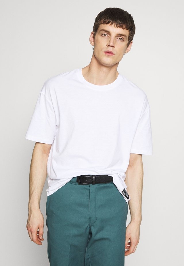 JCOALEX TEE CREW NECK - Jednoduché triko - white