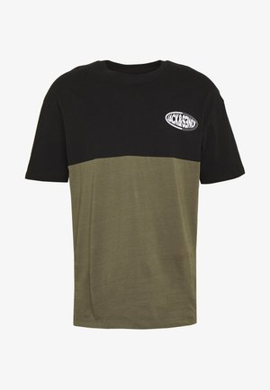 JOROVAL TEE CREW NECK - Printtipaita - dusty olive