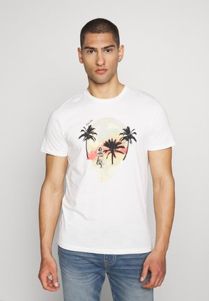 JORSKULL ISLAND TEE CREW NECK - Print T-shirt - cloud dancer