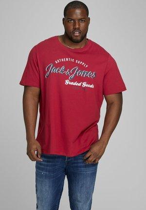 Print T-shirt - rio red