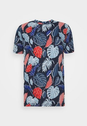 JORFLAME TEE CREW NECK - T-shirts med print - navy blazer
