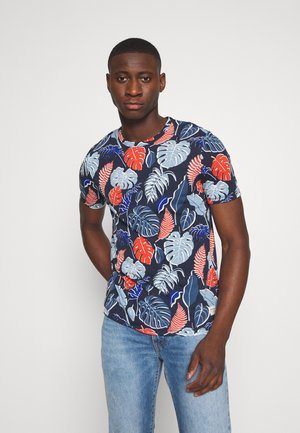 JORFLAME TEE CREW NECK - Camiseta estampada - navy blazer
