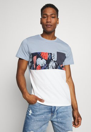 JORFLAME CUT TEE CREW NECK - T-shirt con stampa - cloud dancer