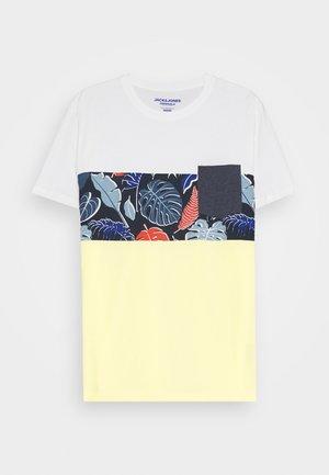 JORFLAME CUT TEE CREW NECK - Print T-shirt - flan