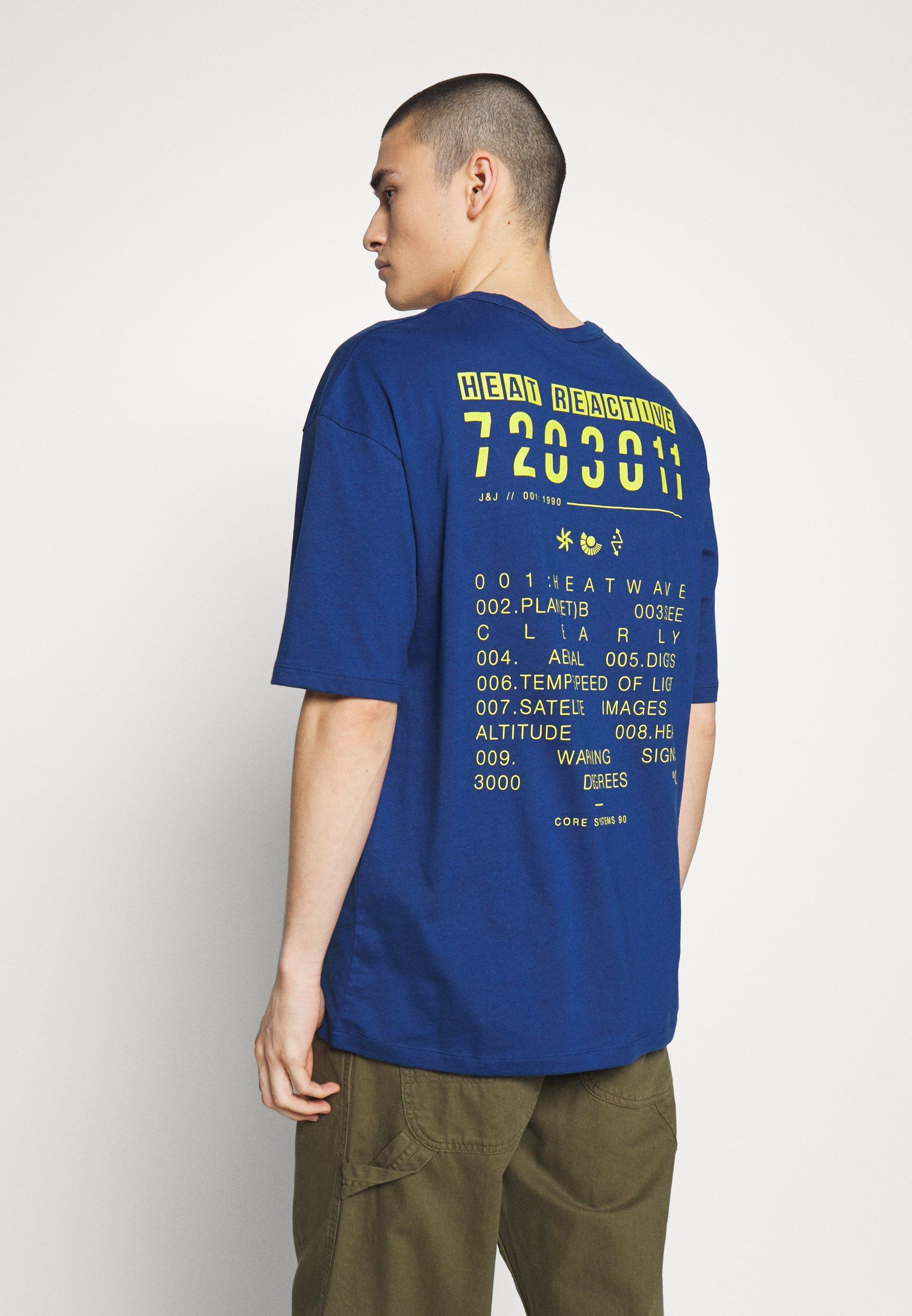 Jack & Jones JCOHEAT TEE CREW NECK - T-shirt z nadrukiem - navy peony