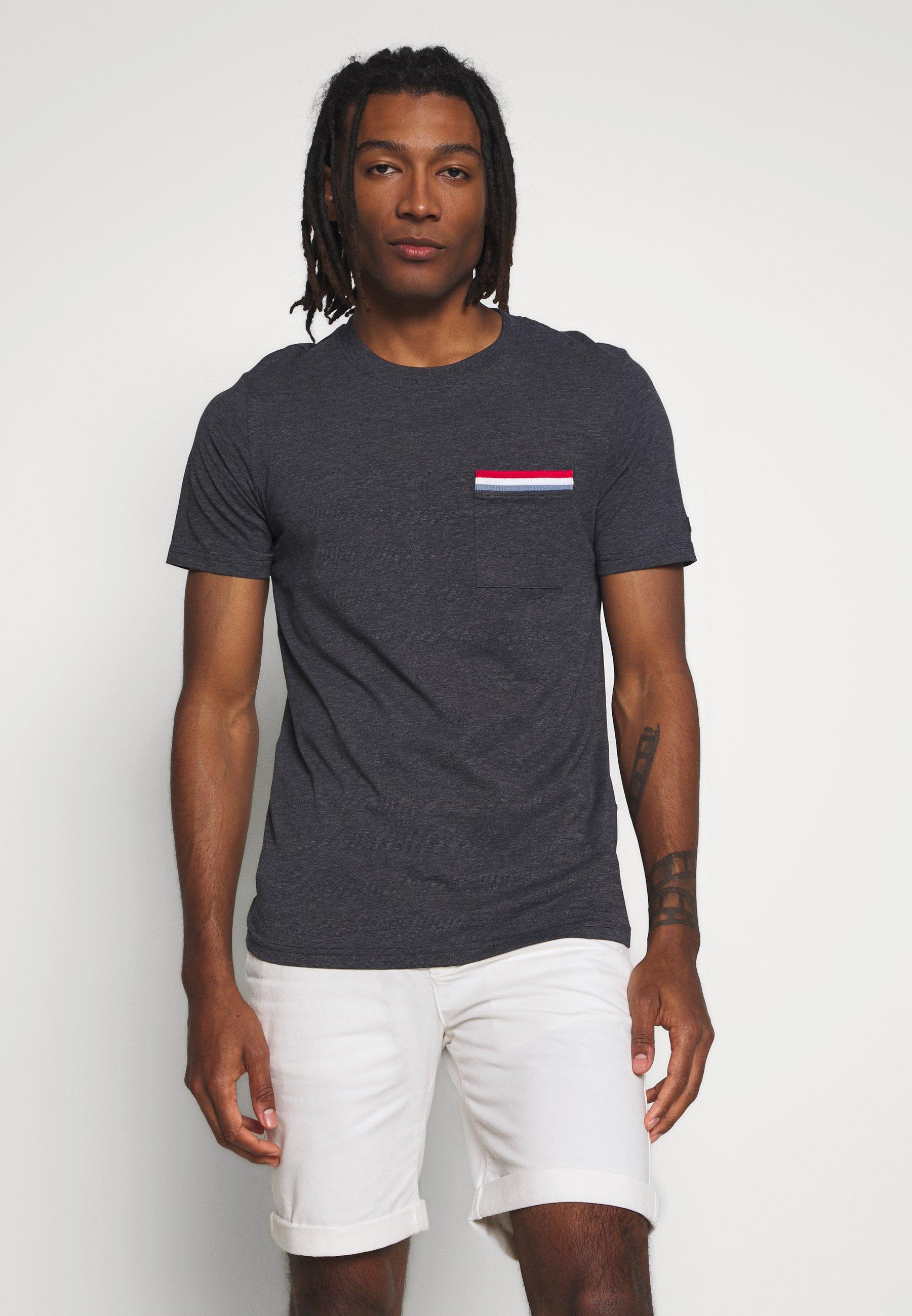 Jack & Jones JCOCARLOS TEE CREW  NECK - T-shirt basic - dark blue