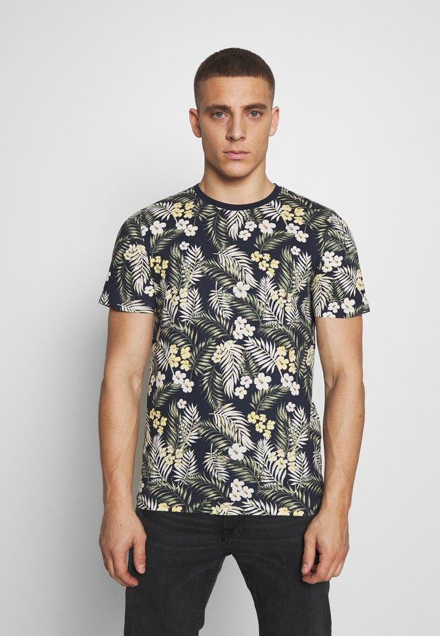 JORTROPIC TEE CREW NECK - T-shirt z nadrukiem - navy blazer