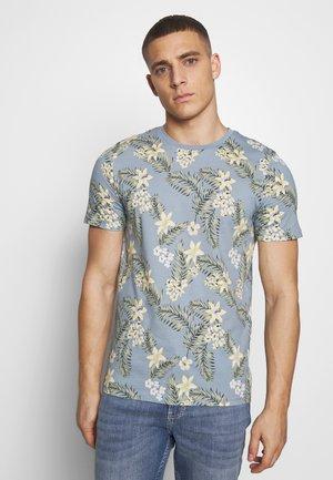 JORTROPIC TEE CREW NECK - T-shirt imprimé - ashley blue