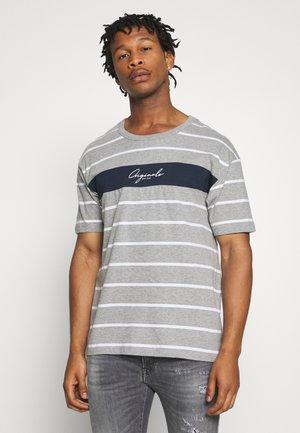 JORLATERS TEE CREW NECK - Camiseta estampada - light grey melange