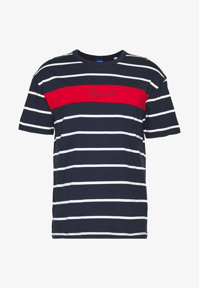 JORLATERS TEE CREW NECK - T-shirt imprimé - navy blazer