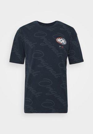JORLOGGS TEE CREW NECK  - Triko spotiskem - navy blazer