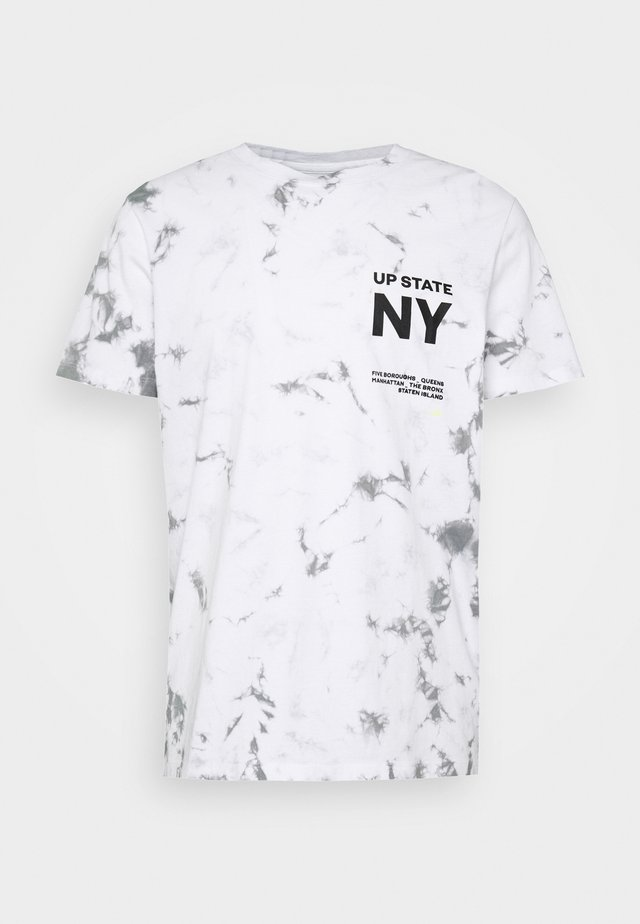 JORDYLAN TEE CREW NECK - T-shirt imprimé - white