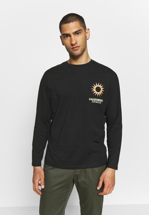 JOROAHU TEE CREW NECK - Long sleeved top - black