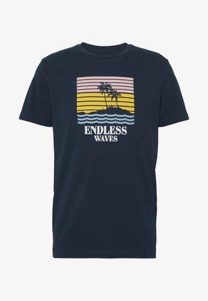 JORSUNSET TEE CREW NECK - T-shirt con stampa - navy blazer