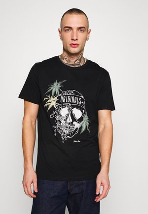 JORBONES - T-shirt print - black