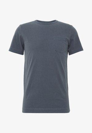 WASH TEE CREW NECK CAMP SLIM FIT - Jednoduché triko - navy blazer