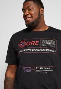Jack & Jones - JCOLET TEE CREW NECK - Print T-shirt - black - 3
