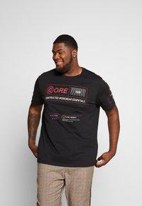 Jack & Jones - JCOLET TEE CREW NECK - Print T-shirt - black - 0