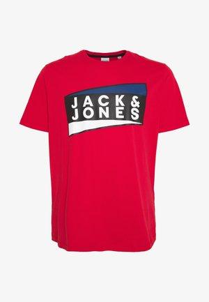 JCOSHAUN TEE CREW NECK - T-shirt print - chinese red