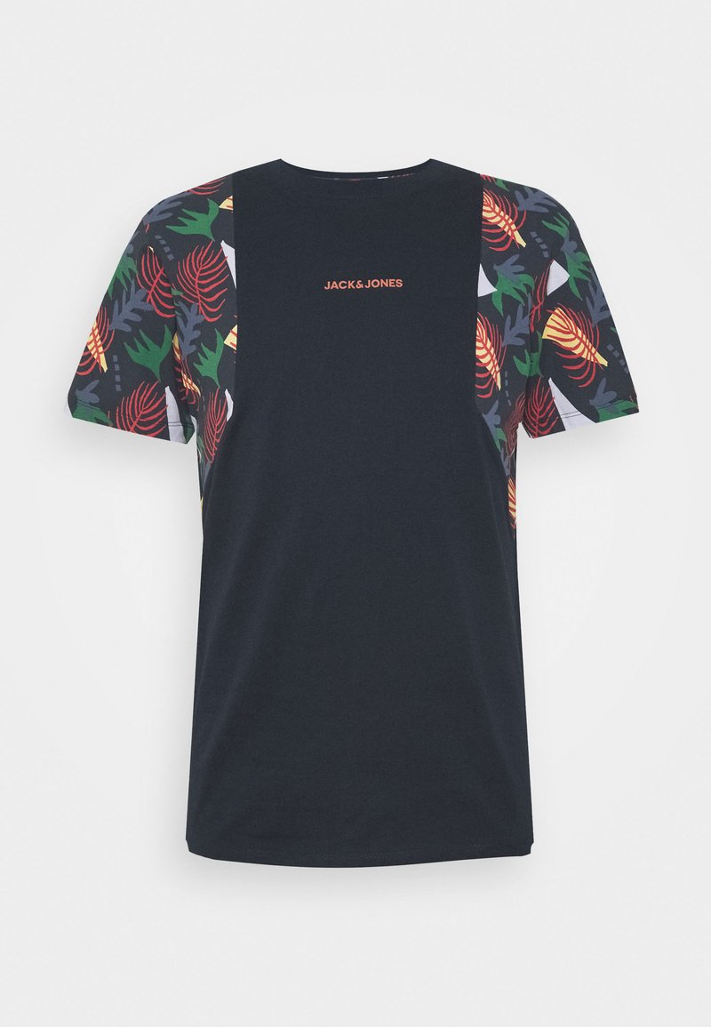 Jack & Jones - JORGRAHAM TEE  - Camiseta estampada - navy blazer