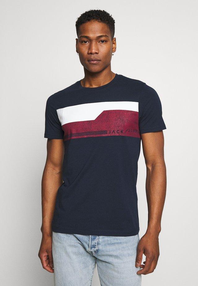 JCOMONACO TEE CREW NECK - T-shirt con stampa - mottled dark blue