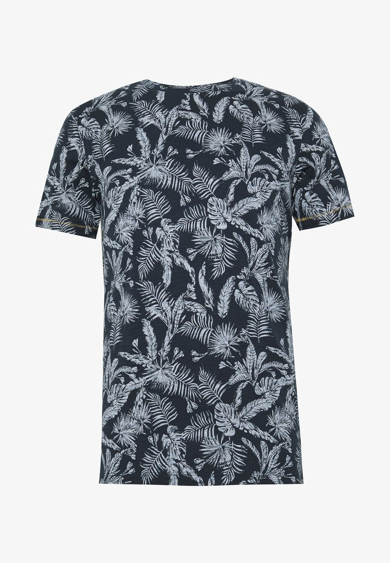 Jack & Jones - JORELRON ORGANIC - T-shirt imprimé - navy