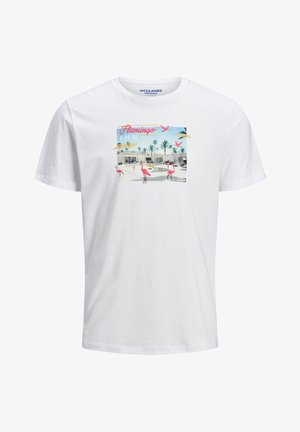 JORLUCIANO  - T-shirt z nadrukiem - white