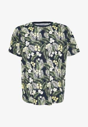 JORTROPIC TEE CREW NECK - T-Shirt print - navy blazer
