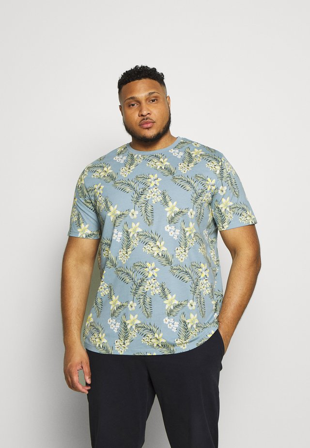 JORTROPIC TEE CREW NECK - T-shirt print - ashley blue