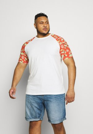 JORTROPIC TEE RAGLAN - T-shirt med print - cloud dancer/chili