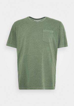 WASH TEE CREW NECK CAMP - Basic T-shirt - mottled teal