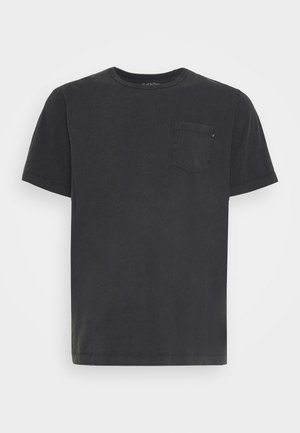 WASH TEE CREW NECK CAMP - T-shirt basic - black